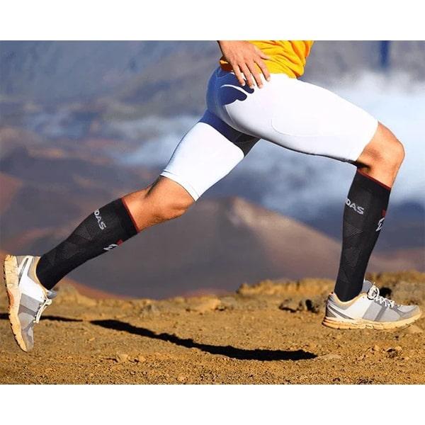 Gladiator Sports Sportcompressiekousen Zwart of Wit (Per paar)