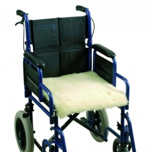 Schapenvacht voor rolstoel – zitting/rug